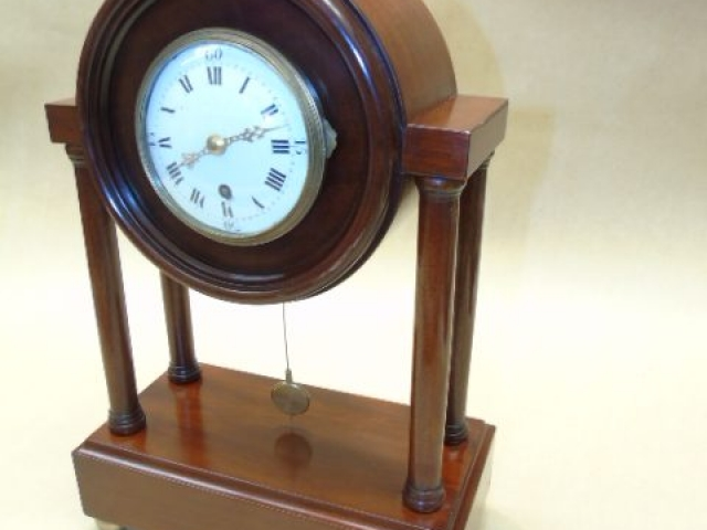Recently made copy of a Bombay style pillar clock